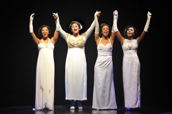 SHOWBIZ CHICAGO PHOTO SPOT! DREAMGIRLS at The Marriott Theatre 6  The Four Dreams: Rashidra Scott (Lorrell Robinson), Raena White (Effie), Britney Coleman (Deena) and Darilyn Burtley (Michelle Morris)