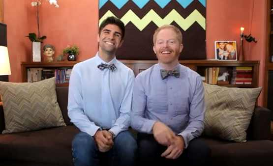 Jesse Tyler Ferguson Appears on Windy City LIVE; Talks Marriage Equality & Spills His Wedding Plans 1 The hilarious Jesse Tyler Ferguson (Modern Family, 25th Annual Putnam County Spelling Bee) and his partner Justin Makita stopped by our favorite talk show Windy City LIVE and discussed marriage equality, which today is being debated in Springfield. Jesse also promoted their new charity venture Tie The Knot in which proceeds of bow ties sales go to pro-gay marriage organizations. And ooops......Jesse also let a little secret slip about his upcoming nuptials. Thank you to my friends at Windy City LIVE for allowing me to share this with you! Today's show will be rebroadcast at 12:05 am on ABC7 Chicago.