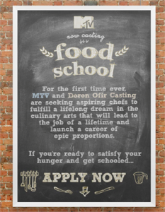 Now Casting: Amateur Chefs for MTV's Food School!