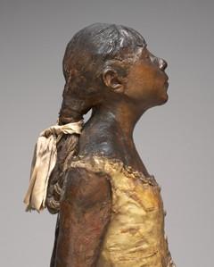 Edgar Degas, Little Dancer Aged Fourteen, 1878-1881, detail.  National Gallery of Art, Collection of Mr. and Mrs. Paul Mellon