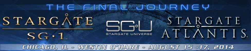 Creation Entertainment Returns to Chicago August 15-17 for One Last Official Stargate SG·1, Stargate: Atlantis, Stargate: Universe Fan Convention 1 Come through ³the Gate² and join fans from around the world to celebrate SCI FI¹s hit television seriesStargate SG-1,Stargate: Atlantis and Stargate: Universe,at the only OfficialStargate SG·1/Atlantis/UniverseConvention on the planet for one final time. The event takes placeFriday,SaturdayandSunday, August 15, 16 and 17 at the Westin O¹Hare, 6100 River Road, Rosemont, 60018.