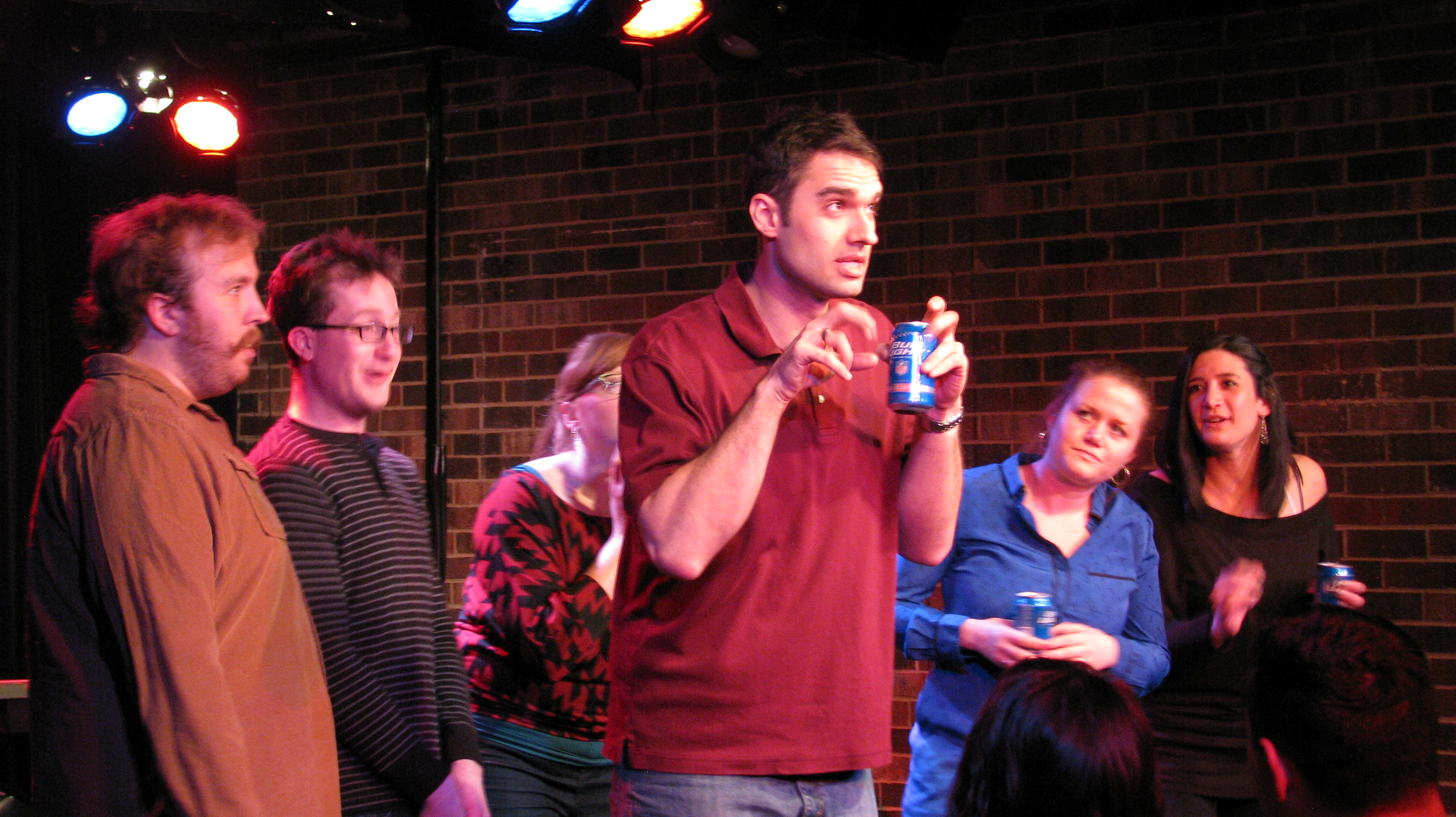 """""""THIRSTY"""" RETURNS FOR A STAGGERING SEVENTH SEASON 7 Thirsty: Chicago's Premier Improv Drinking Party makes its triumphant return for its staggering SEVENTH season at the Apollo Studio Theater this weekend, Friday and Saturday night, Sept. 12-13."""