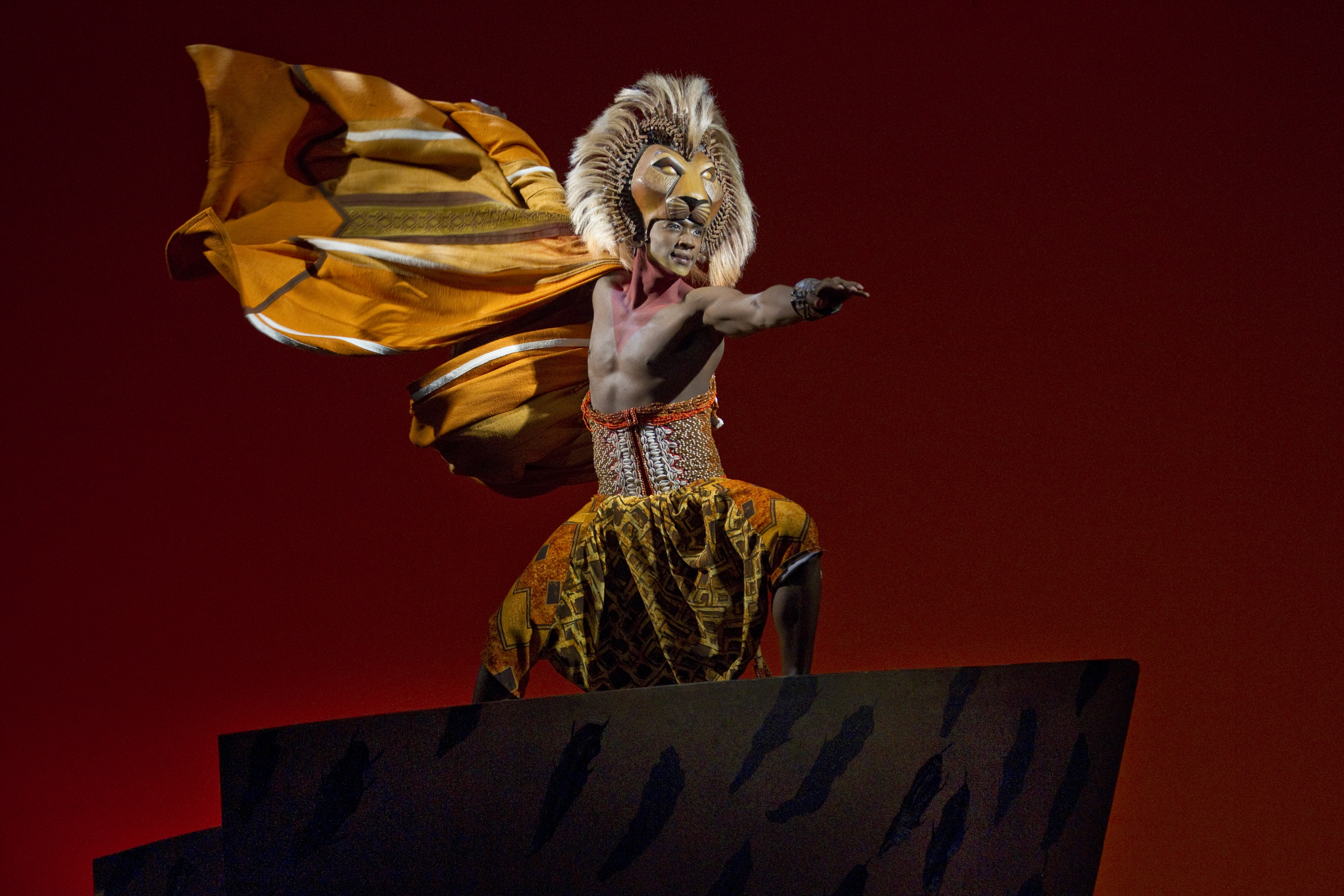 """THE LION KING Lives 1  Jelani Remy as """"Simba"""" from THE LION KING National Tour. ©Disney. Photo Credit: Joan Marcus."""