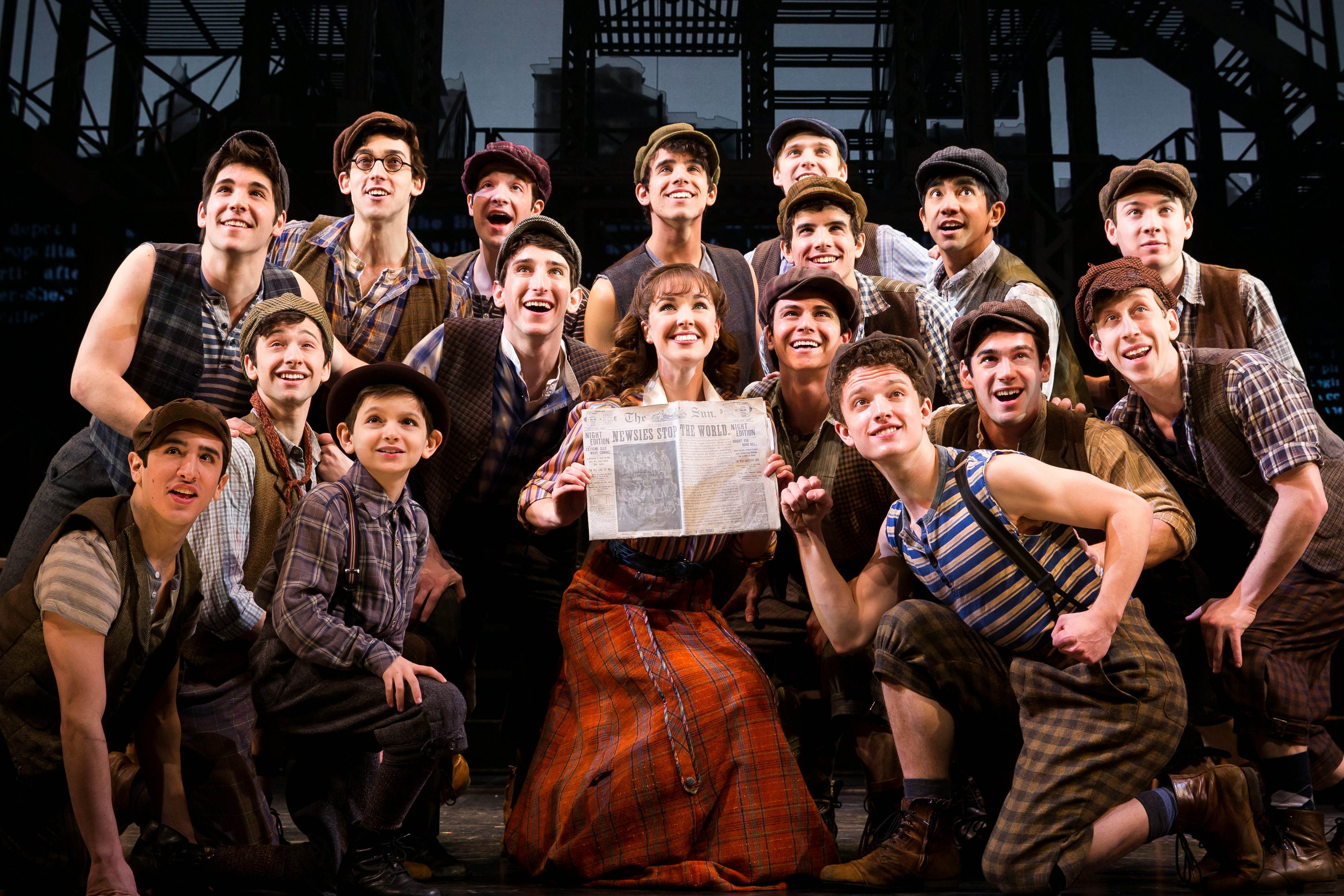 NEWSIES DAY-OF-PERFORMANCE DRAWING FOR $25 TICKETS DRAWING TO BE HELD FOR EACH PERFORMANCE AT BLOCK 37 1  Broadway company of NEWSIES. ©Disney. Photo by Matthew Murphy.
