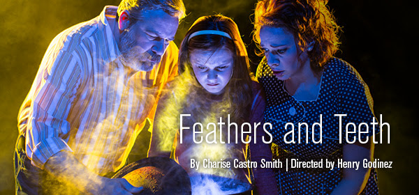 """Goodman Theatre Kicks of 2015/16 With Charise Castro Smith's """"FEATHERS AND TEETH"""" Sept. 19 - Oct. 18 at the Owen 1 Goodman Theatre kicks off the 2015/2016 Season in its Owen Theatre withFeathers and Teeth, Charise Castro Smith's bone-chilling dark comedy that brings dysfunctional family drama to scary new heights. Directed by Resident Artistic AssociateHenry Godinez, Feathers and Teeth was developed in the Goodman's New StagesFestival and features Northwestern University student Olivia Cygan as the distraught 13-year-old Chris. cast also includes Eric Slater as Chris' father, Arthur, and Ali Burchas Ellie, her deceased mother. Christina Hall portrays Carol, Arthur's new live-in fiancée, and Jordan Brodess as Hugo, the boy next door. Carolyn Hoerdemann delivers Foley effects—the representation of ambient sound effects—as soundscape for the action. The design team includes Kevin Depinet (Set); Mikhail Fiksel (Sound); Jesse Klug(Lighting); and Christine Pascual (Costumes). Kimberly Osgood is the production stage manager."""