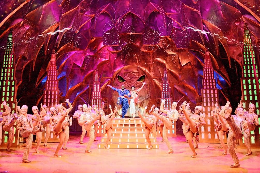 James Monroe Iglehart, Adam Jacobs and the Company of Disney's ALADDIN Photo Credit: Deen van Meer
