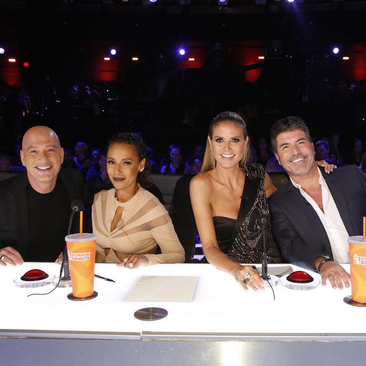 "AMERICA'S GOT TALENT -- ""Live Finale"" Episode: 1122 -- Pictured: (l-r) Howie Mandel, Mel B, Heidi Klum, Simon Cowell -- (Photo by: Trae Patton/NBC)"
